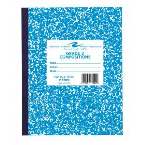 """COMPOSITION BOOK GRADE 2 RULED 24 CT BLUE     9.75"""" X 7.75"""""""