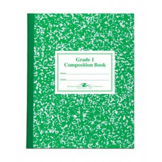 "COMPOSITION BOOK GRADE 1 RULED 50 ct GREEN  9.75"" X 7.75"""