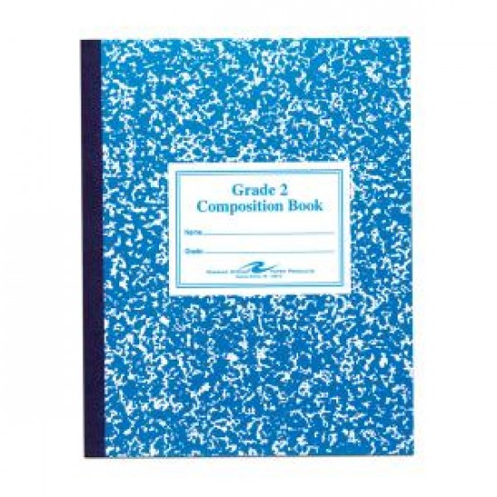 """COMPOSITION BOOK GRADE 2 RULED 50 CT BLUE     9.75"""" X 7.75"""""""