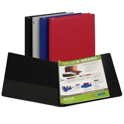 "BINDER SAMSILL HARD VINYL WITH POCKETS  1/2""  ASST'D"