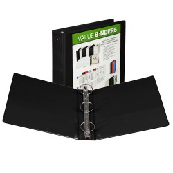 "BINDER SAMSILL INSERTABLE VIEW COVER   2""   BLACK"
