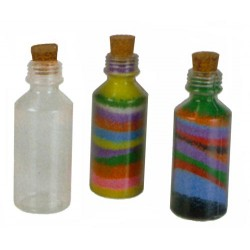 BOTTLE FOR SAND ART W/CORK (2 OZ.)