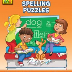 """WORKBOOKS """"I KNOW IT!"""" 32 pg SPELLING PUZZLES 1"""