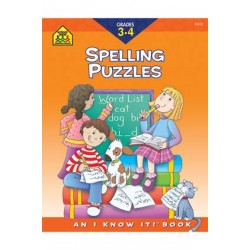 "WORKBOOKS ""I KNOW IT!"" 32 pg SPELLING PUZZLES 3-4"