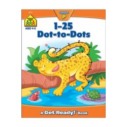 "WORKBOOKS ""GET READY!"" PRESCHOOL 1-25 DOT-TO-DOT"