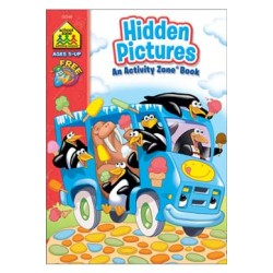 WORKBOOKS ACTIVITY ZONE 64pg HIDDEN PICTURES