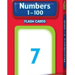 FLASH CARDS SCHOOL ZONE 56 CT NUMBERS 1-100