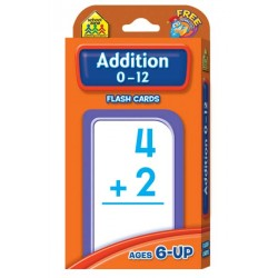 FLASH CARDS SCHOOL ZONE 56 ct ADDITION 0-12