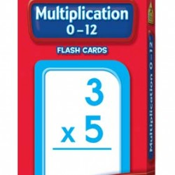 FLASH CARDS SCHOOL ZONE 56 CT MULTIPLICATION 0-12