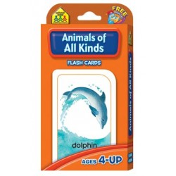 FLASH CARDS SCHOOL ZONE 56 ct ANIMALS OF ALL KINDS