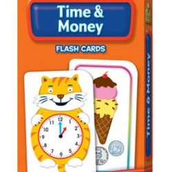 FLASH CARDS SCHOOL ZONE 56 CT TIME & MONEY