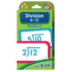 FLASH CARDS SCHOOL ZONE 56 ct DIVISION