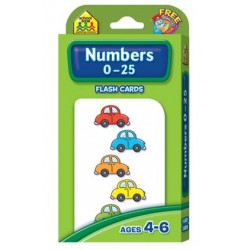 FLASH CARDS SCHOOL ZONE 56 ct NUMBERS 1-25