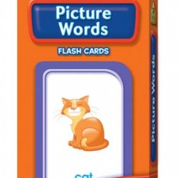 FLASH CARDS SCHOOL ZONE 56 CT PICTURE WORDS