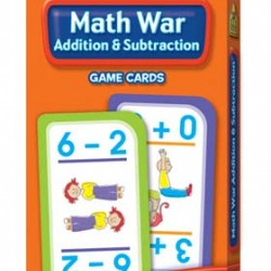 GAME CARDS SCHOOL ZONE 56ct MATH WAR ADDITION & SUBTR..