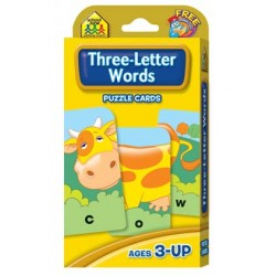 GAME CARDS PUZZLE SCHOOL ZONE 56ct THREE-LETTER WORDS