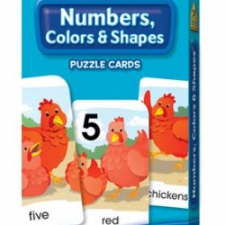 GAME CARDS PUZZLE SCHOOL ZONE 56ct NUMBERS, COLORS & SHAPES