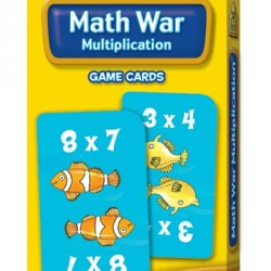 GAME CARDS SCHOOL ZONE 56ct MATH WAR MULTIPLICATION