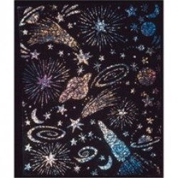 "SCRATCH-ART PAPER GLITTER BOARD  8 1/2""X11""   10ct"