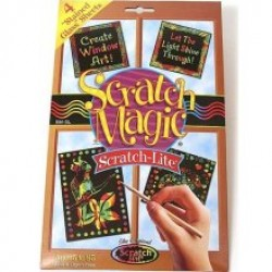 "SCRATCH-LITE  ""STAINED GLASS""  SHEETS  8""X 9.75""  30 CT."