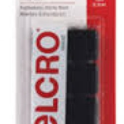 "VELCRO STICKY BACK SQUARES 7/8"" 12ct BLACK"