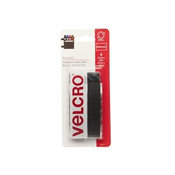 "VELCRO STICKY BACK STRIPS 3 1/2"" X 3/4"" 4ct BLACK"
