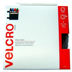 "VELCRO STICKY BACK TAPE 15 FT X 3/4"" WHITE"