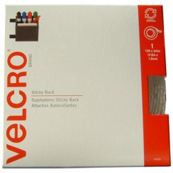 "VELCRO STICKY BACK TAPE 15 FT X 3/4"" BEIGE"