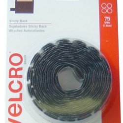 "VELCRO STICKY BACK CIRCLES 5/8"" 75ct BLACK"