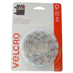 "VELCRO STICKY BACK COIN SETS 5/8"" 75ct WHITE"