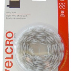 "VELCRO STICKY BACK CIRCLES 5/8"" 75ct WHITE"