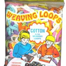LOOM LOOPS COTTON ASST'D COLORS  10OZ BAG 350CT