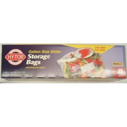 BAGS PLASTIC STORAGE SLIDE LOCK GALLON 15ct (BRANDS VARY)