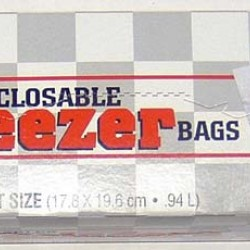 BAGS PLASTIC FREEZER QUALITY QUARTS  RECLOSABLE 20 ct  (BRANDS VARY)