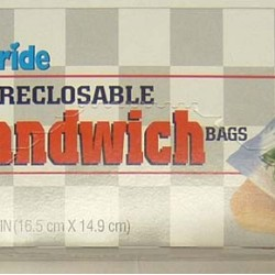 BAGS PLASTIC SANDWICH SIZE RECLOSEABLE    50 ct (Brands Vary)