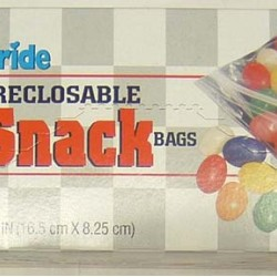 BAGS PLASTIC SNACK SIZE RECLOSABLE 50ct (BRANDS VARY)
