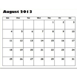 "CALENDAR ACADEMIC YEAR AUG 2018-JULY 2019  11"" X 8 1/2"""