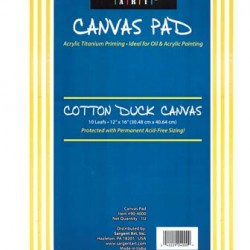CANVAS PAD 10 PAGE W/ACID FREE SIZING SARGENT ART 12 X 16