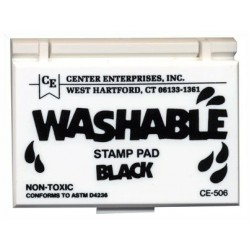 STAMP PADS WASHABLE BLACK CE506