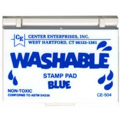 STAMP PAD WASHABLE BLUE CE504