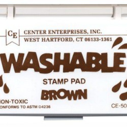 STAMP PAD WASHABLE BROWN CE508