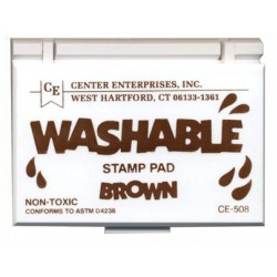 STAMP PADS WASHABLE BROWN CE508