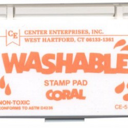 STAMP PADS WASHABLE CORAL CE511