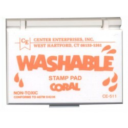 STAMP PAD WASHABLE CORAL CE511
