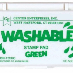 STAMP PADS WASHABLE GREEN CE503