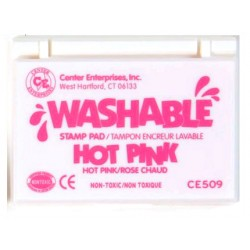 STAMP PADS WASHABLE HOT PINK CE509