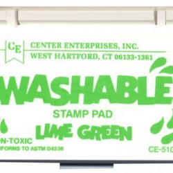 STAMP PADS WASHABLE LIME GREEN CE510