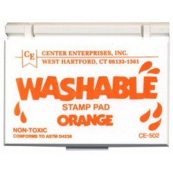 STAMP PAD WASHABLE ORANGE CE502