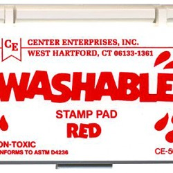 STAMP PAD WASHABLE RED CE505