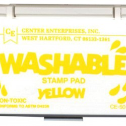 STAMP PAD WASHABLE YELLOW CE501
